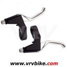 XXX - paire de levier freins V brakes Aluminium 3 doigts noir gris