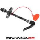 XXX - support maintient chaine pour transport velo sans roue fixation serrage rapide 135 mm