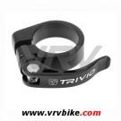XXX - collier de serrage tige de selle aluminium rapide NOIR 34.9 mm